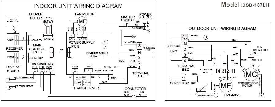 Схема кондиционера DAEWOO